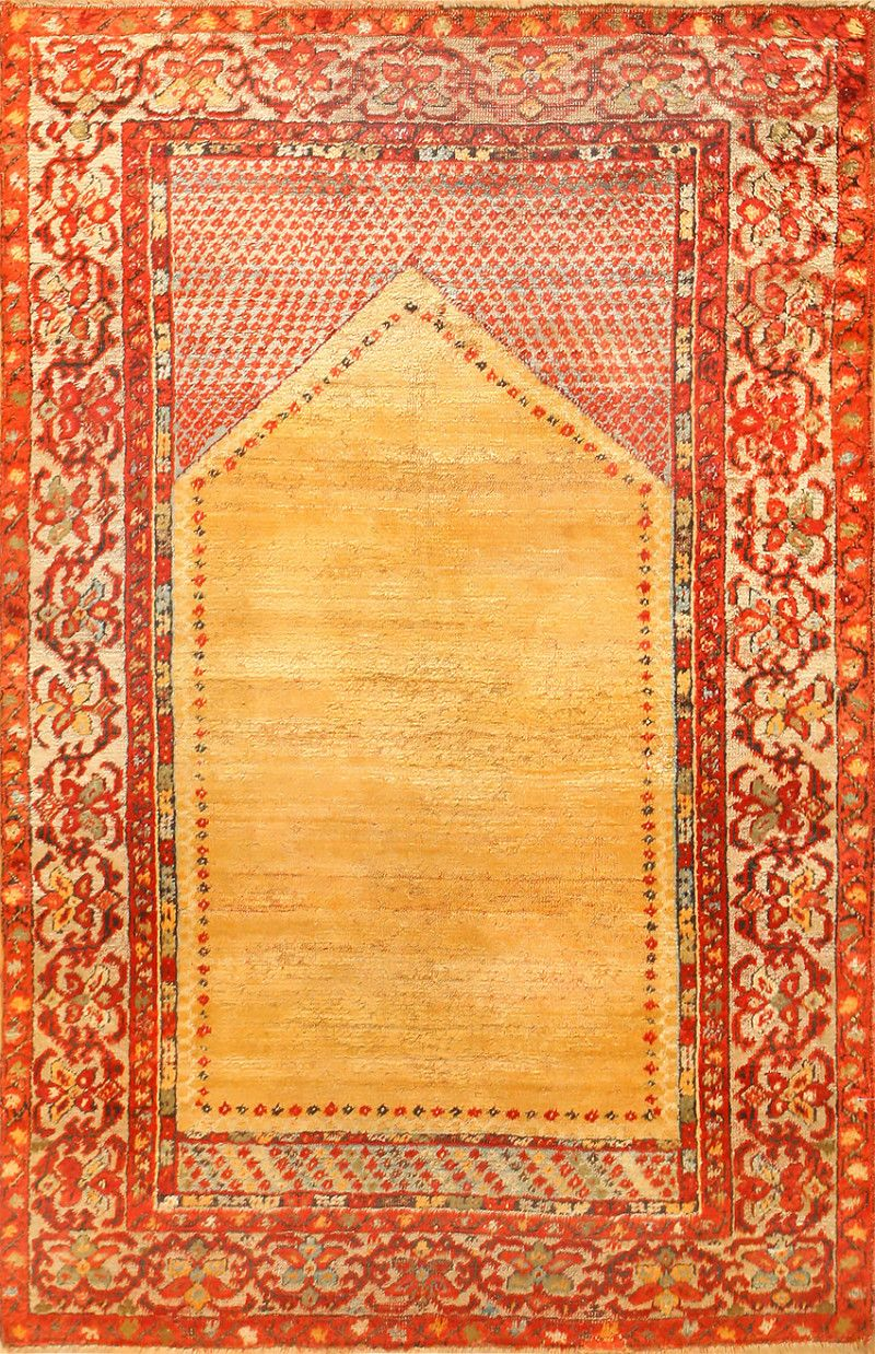 Antique Angora Oushak Prayer Rug 48613 By Nazmiyal In 2019