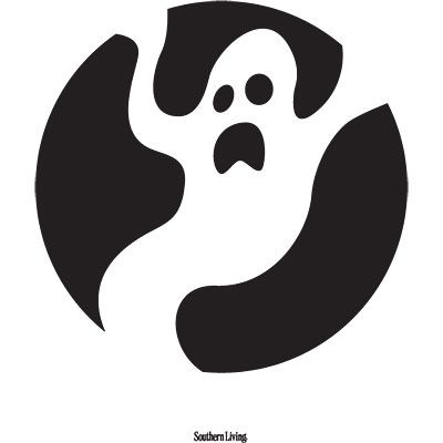 Bendy Ghost Template   Easy Printable Pumpkin Carving Patterns