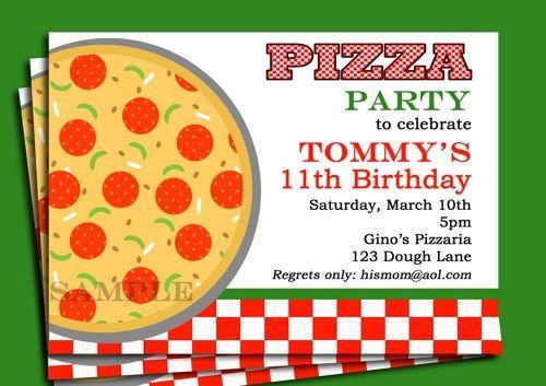 Pizza Party Invitation Wording Pizza party invitation http://www ...