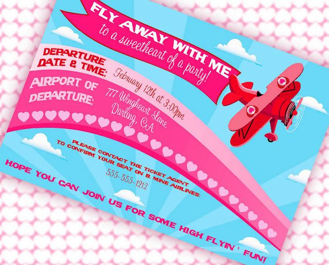 Fly Away With Me Valentine's Party