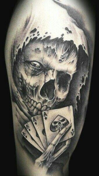 Ein Ass Im ärmel Tattoos Pinterest Tattoos Skull Tattoos Und