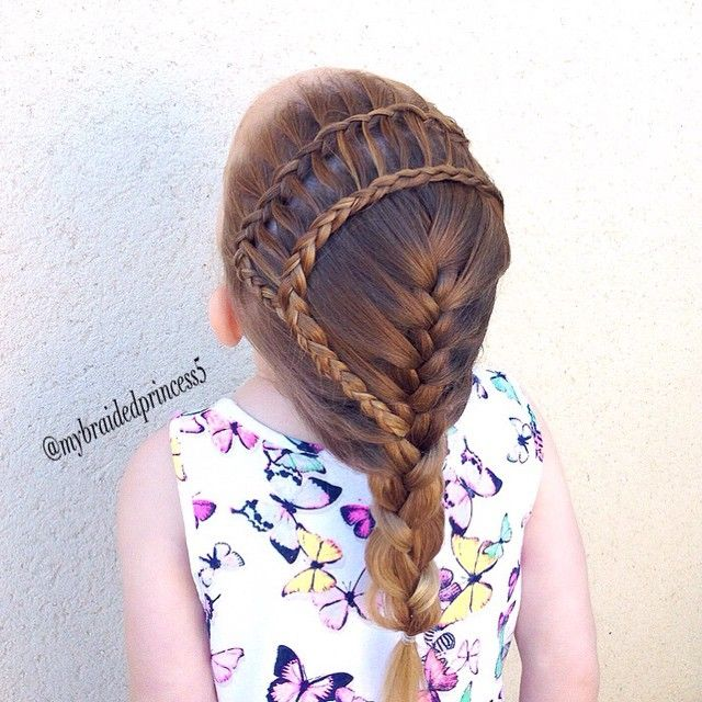 cute Dutch lace braid to ladder to french braid. Recreation for @yiyayellow reaching 30k. #yiya30k