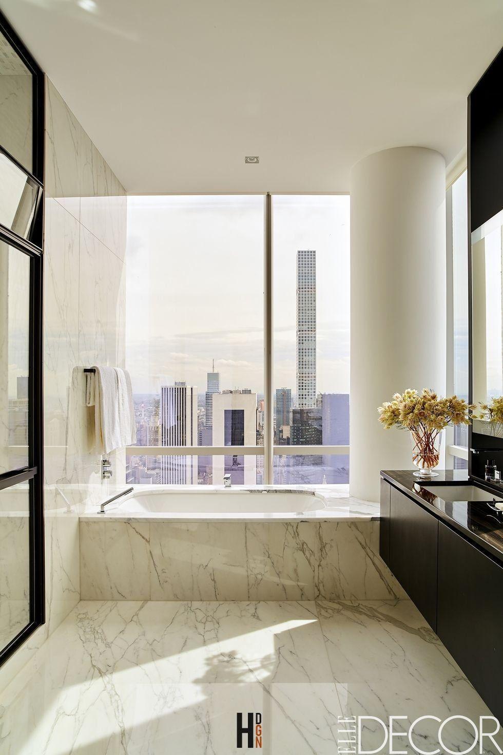 25 White Bathroom Design Ideas – Decorating Tips for All White … #25 ...