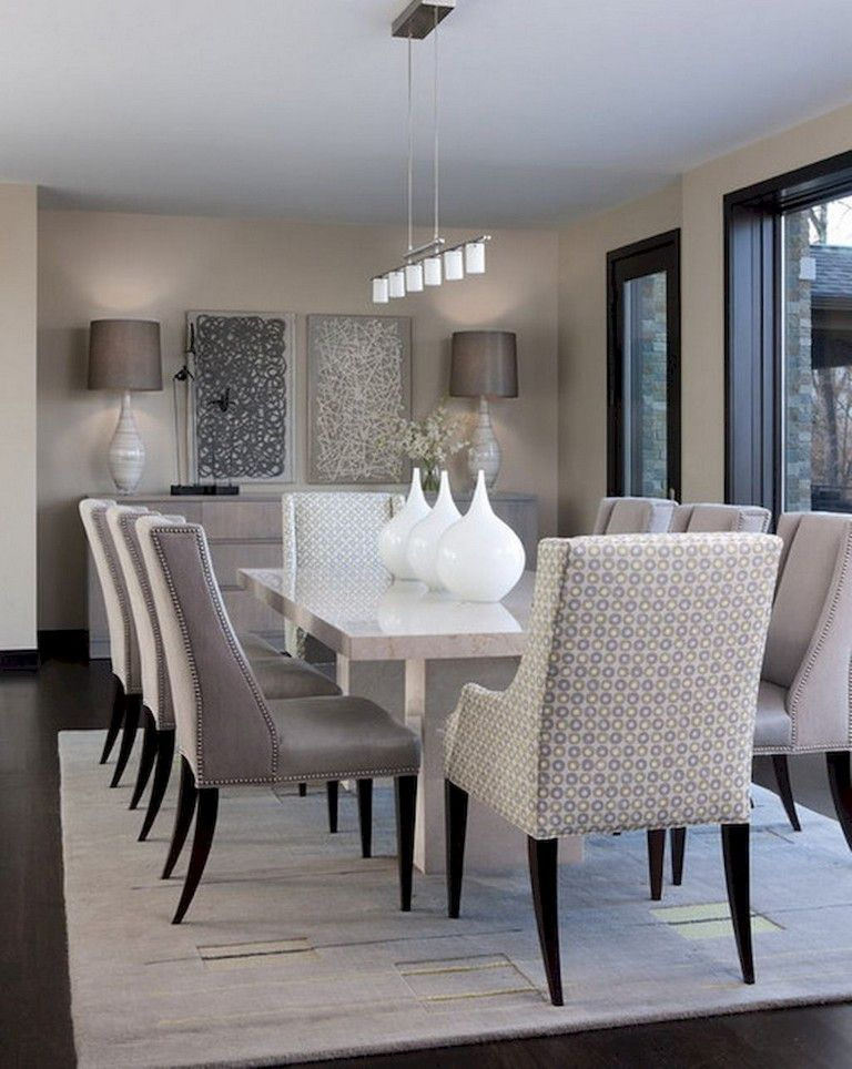 77 Lovely Modern Dining Room Decorating Ideas Elegant Dining