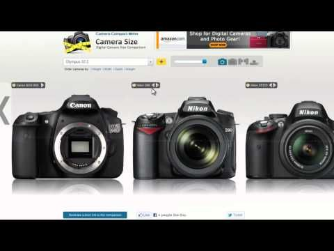 How to use camerasize.com webapp to compare multiple digital ...