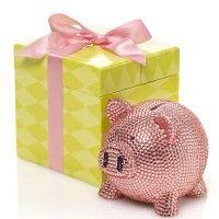 Trumpette Ceramic Rhinestone Piggy Bank – Pink
