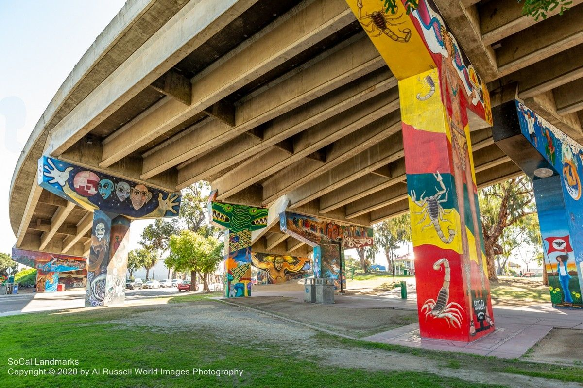 Chicano Park In San Diego Was Born Out Of Protests By The Local Residents Of Barrio Logan To The Incursion Developme Chicano Park Barrio Logan Coronado Bridge