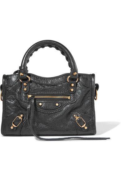 Balenciaga Classic City Nano Texured Leather Shoulder Bag Bags Hand