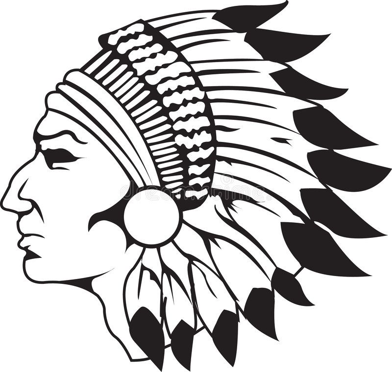 Indian Chief Black And White Indian Chief Logo With Head Dress Sponsored Black Chief Indian White Dress Ad Feather Painting Native Art Art