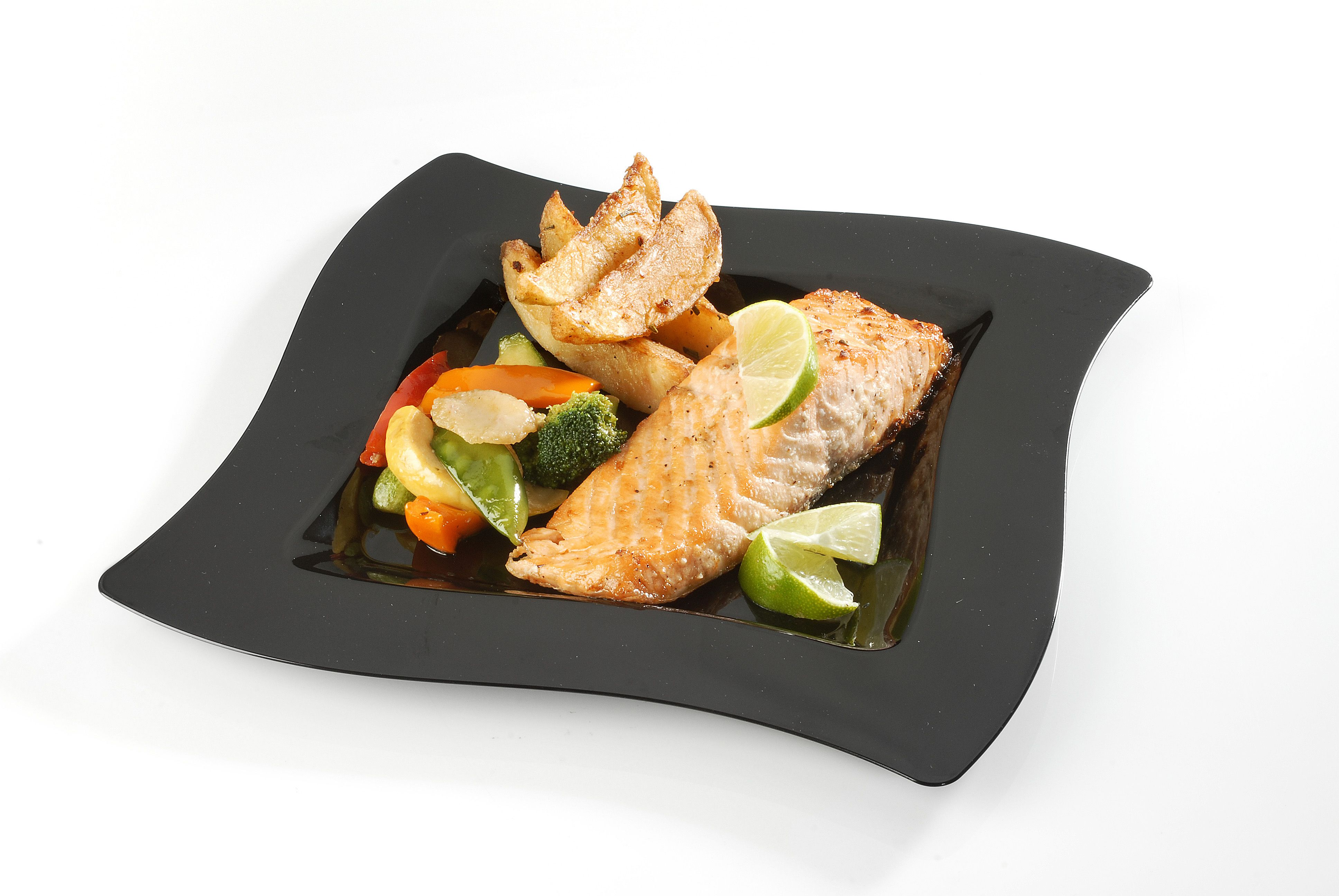 Wavetrends upscale disposable dinnerware by Fineline Settings. Check ...