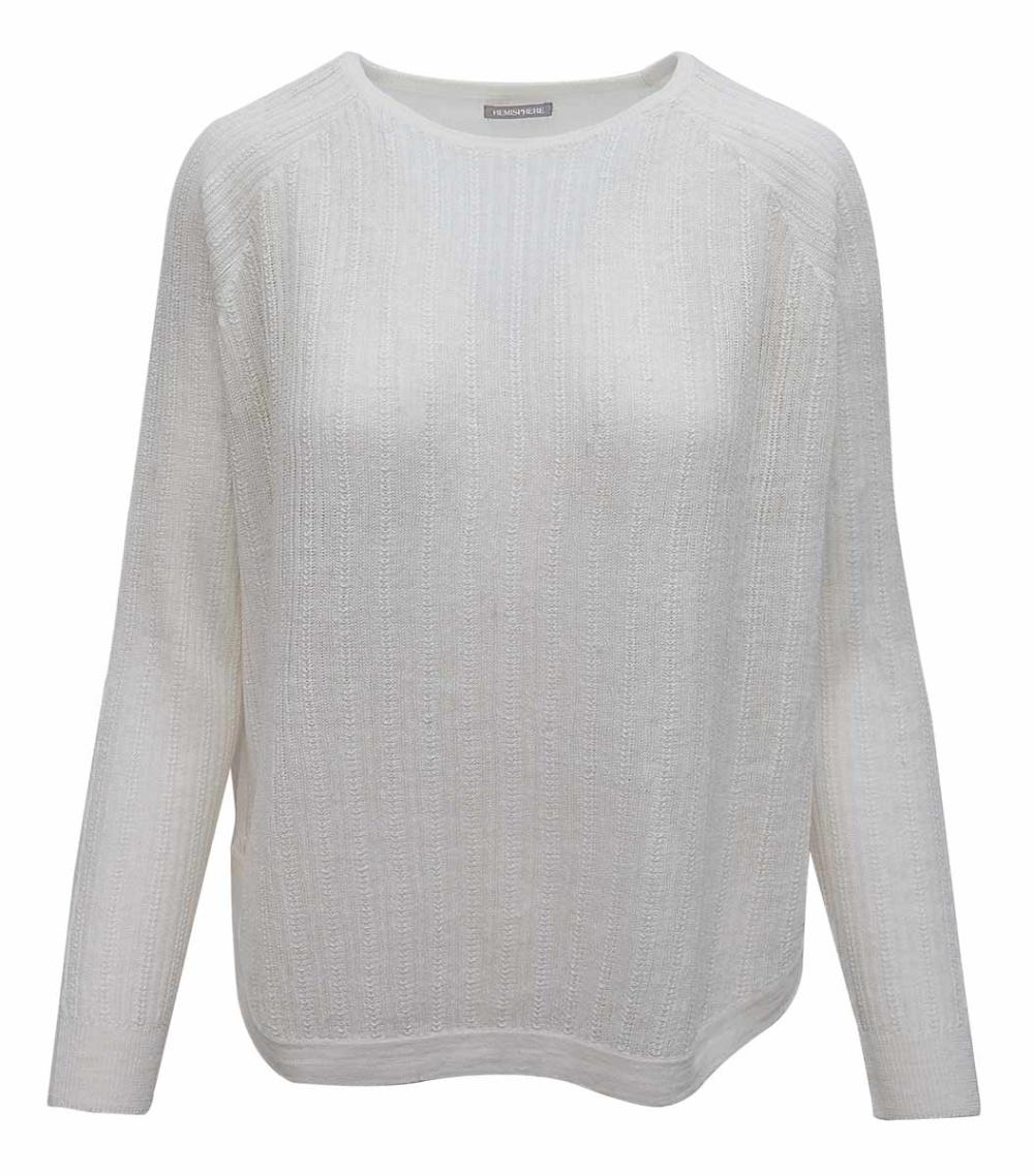 Hemisphere Leinenpullover Weiss In 2020 Damenmode Online Pullover Herren Mode