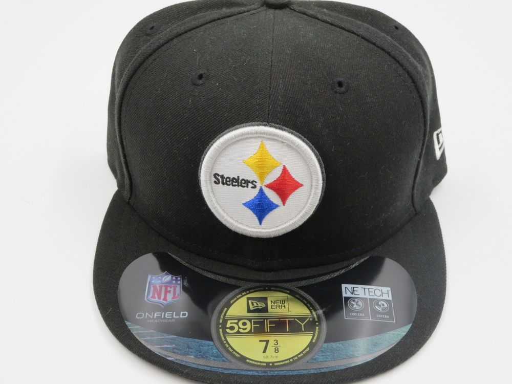 more photos 690f7 1fc35 New Era Pittsburgh Steelers On Field Sideline Authentic 59Fifty Black  Fitted Hat  NewEra  PittsburghSteelers