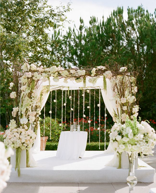 Cheap Wedding Altar Decoration Ideas: A Romantic All-White Wedding By Marisa Holmes