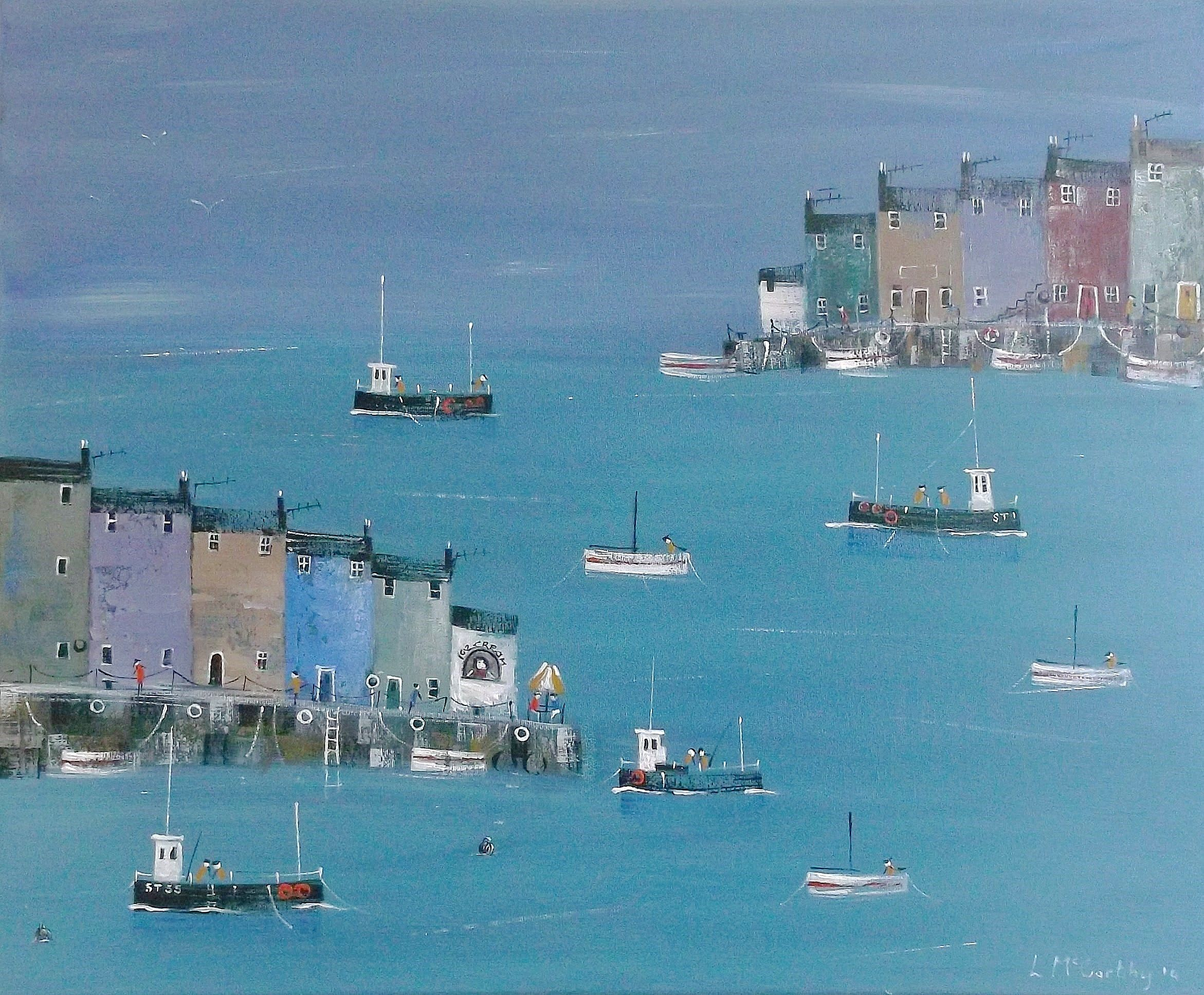 cornish ice cream by lee mccarthy seaside art seascape on home depot paint sales this week id=71319