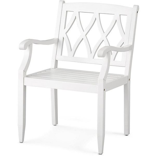Improvements Lexington Wood Dining Arm Chair (1.500 ARS) ❤ liked on Polyvore featuring home, outdoors, patio furniture, outdoor chairs, chair, outdoor chair, outdoor dining chair, outdoor furniture, wooden outdoor furniture and outdoor folding chairs