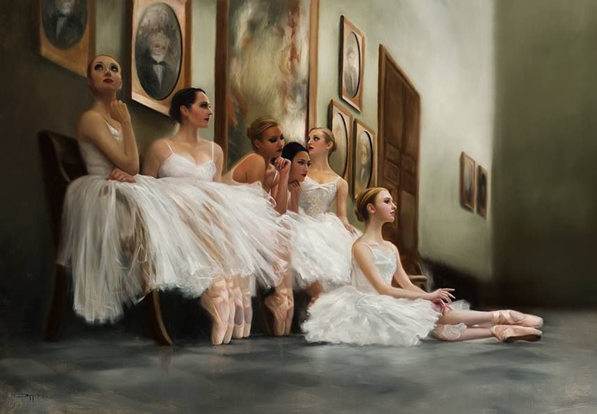Absolutely love this painting famous dancers the artist