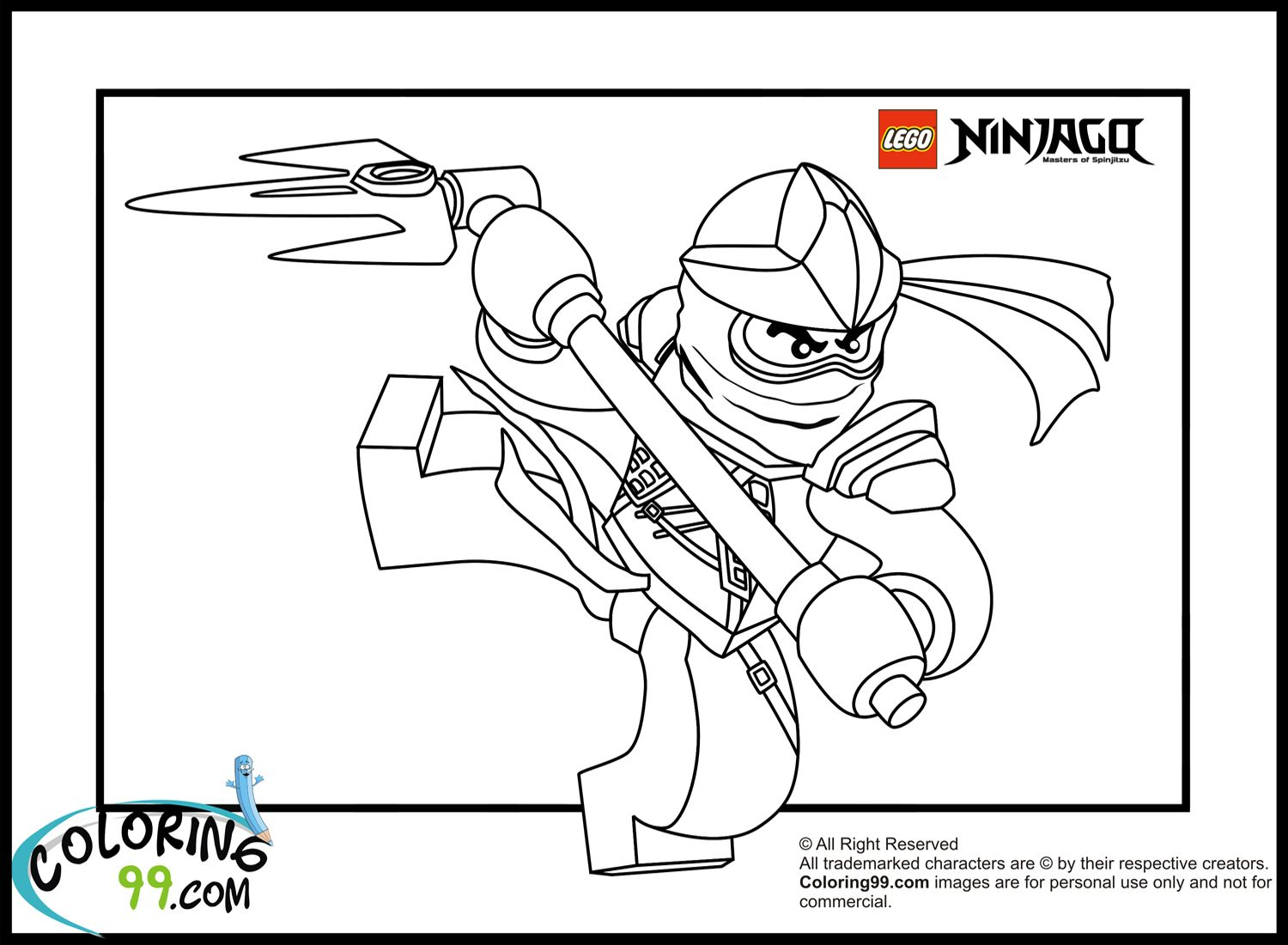 LEGO Ninjago Cole Coloring Pages | Coloring99.com | Lego party ...