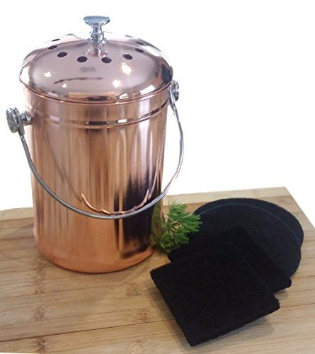 Copper Countertop Compost Bin Crock Bucket For Indoor Kit Https