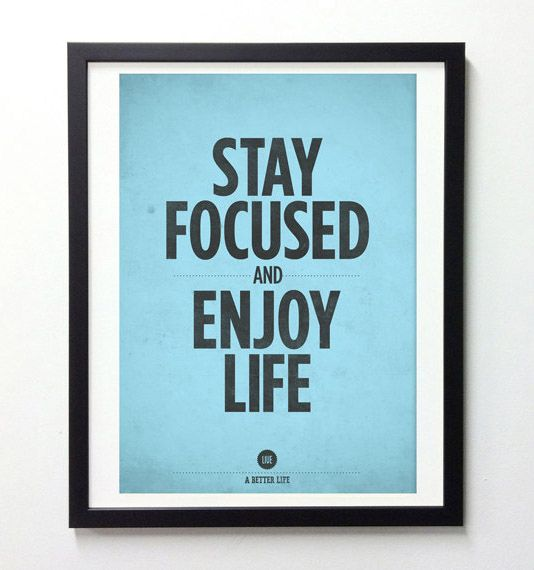 Inspirational Quotes Wall Decor Stay Focused And By NeueGraphic On  Designspiration