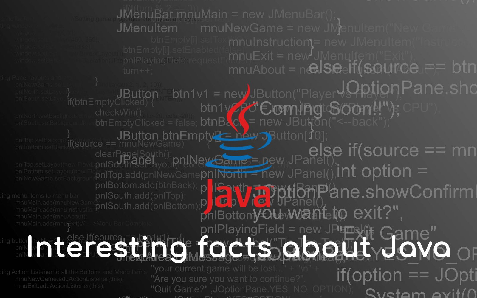 Most Interesting facts about Java (With images) Fun