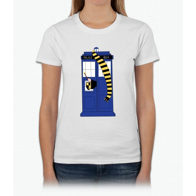 Hufflepuff Tardis Harry Potter Womens T-Shirt