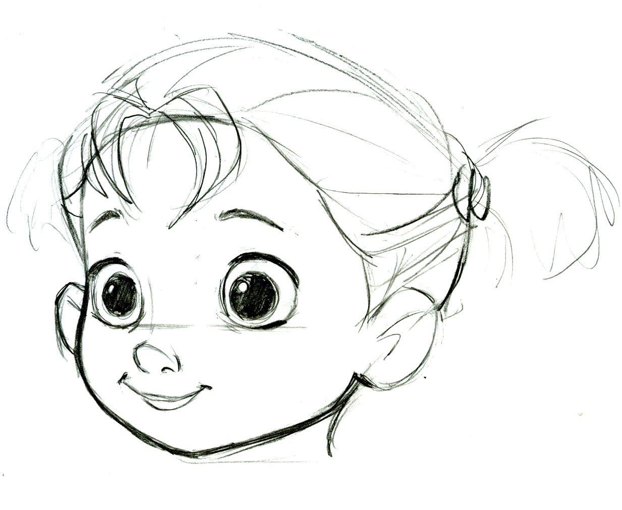 Детские лица картинки нарисованные карандашом