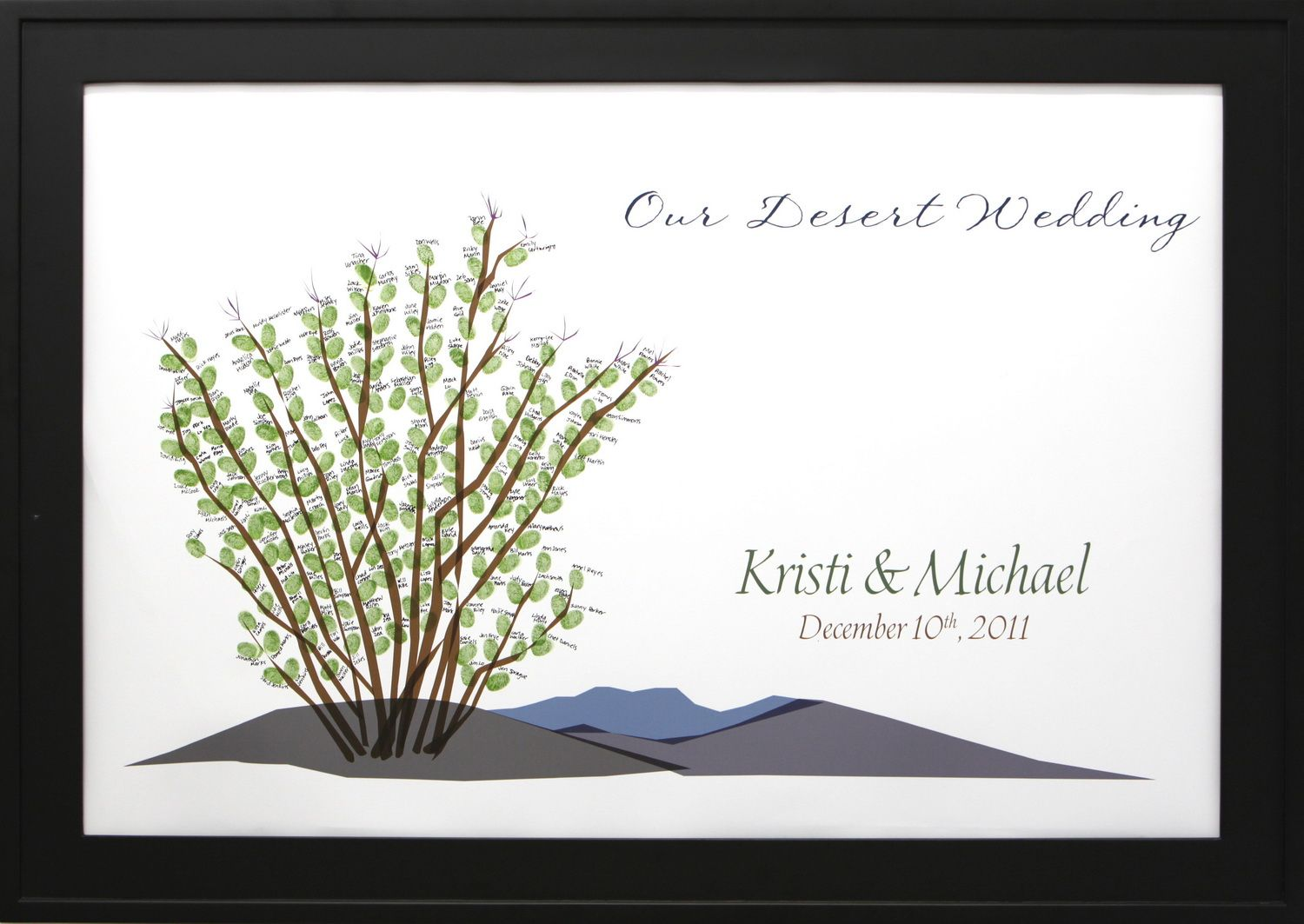 Thumbprint Wedding Guestbook Tree - 24″ x 36″ Tree # 7 | Full Size ...