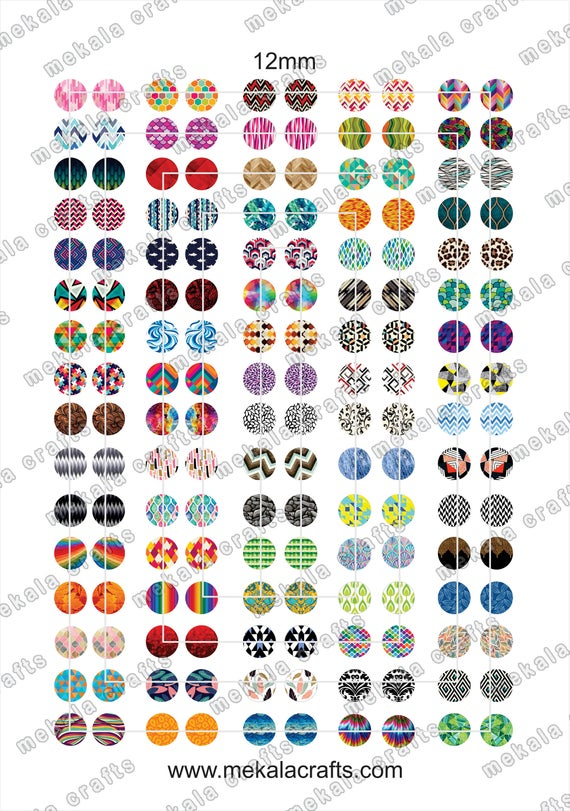Dogs digital collage sheet circle 1 inch Printable images for jewelry cabochon template 1.5 inch 12mm 20mm