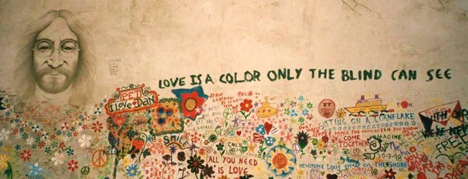 street art beatles john lennon prague | we all live in a yellow ...