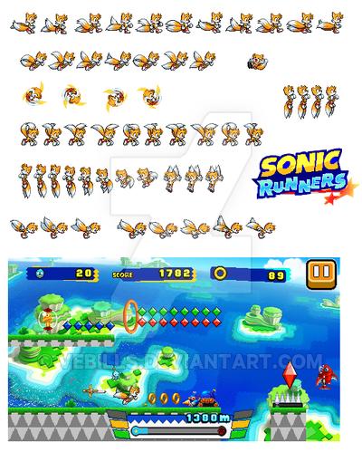 Sonic Runners Tails Sprites By Vebills Sonic Runners