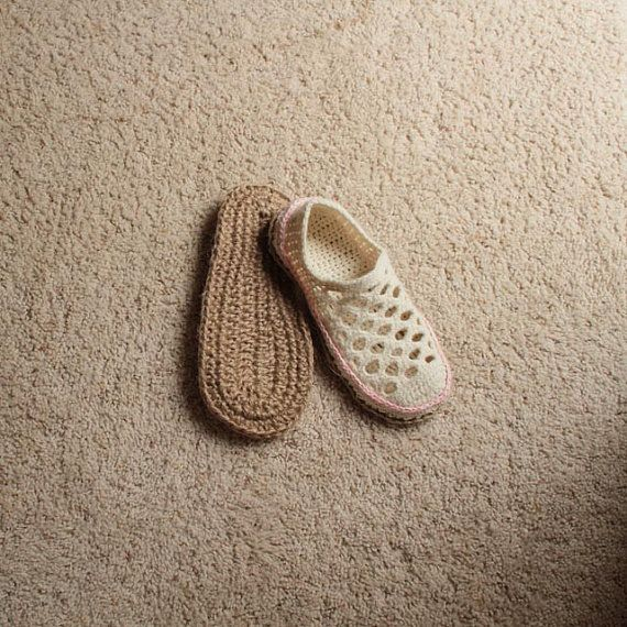 Crochet Pattern Jute Soles in 14 sizes Toddler up to por Mamachee