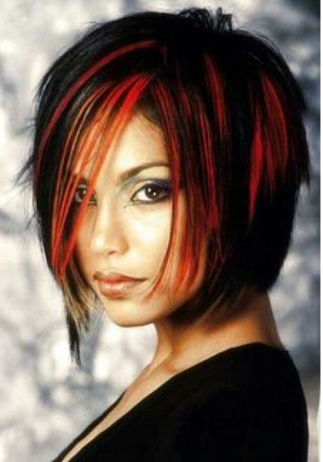 Black And Red Short Hair Color Short Hair Styles 2014 Hair