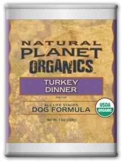 Natural Planet Organic Turkey Dog Food 12-13OZ