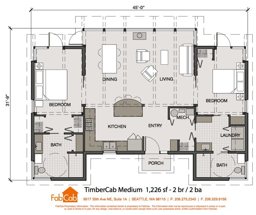 Fabcab 2 Br Floor Plan 1226 Sq Ft House Floor Plans