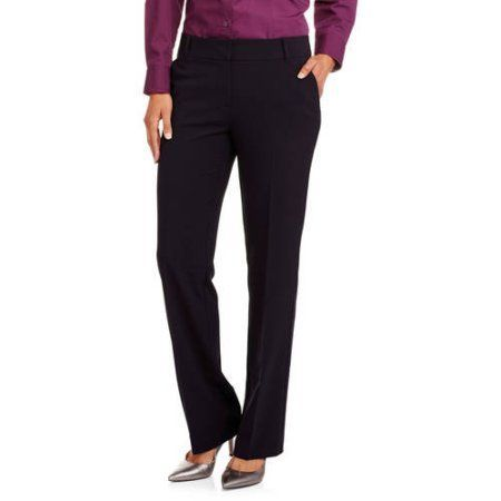 George Women's Career Suit Pant, New Updated Fit, Regular and Petite, Size: 10 Petite, Gray
