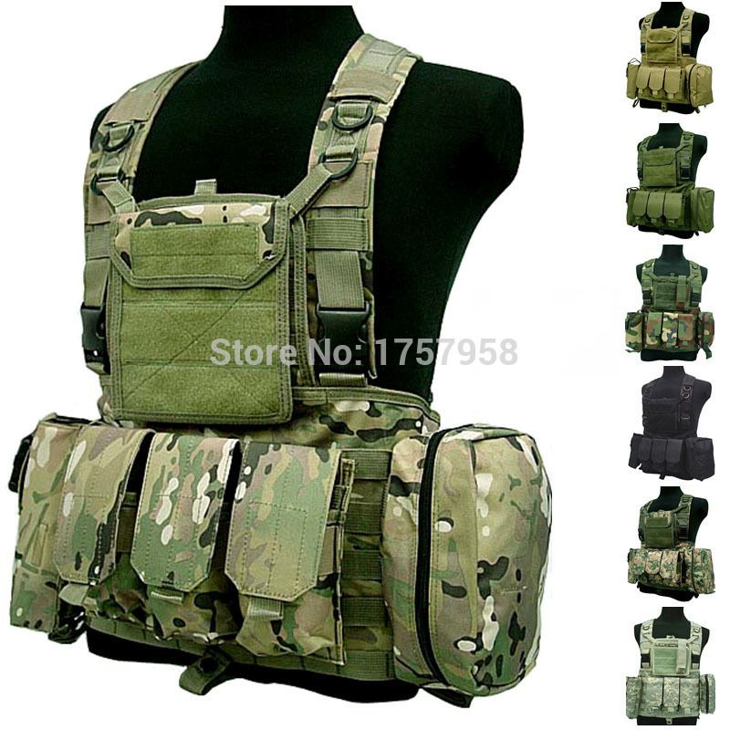 FSBE LBV Load Bearing Molle Assault Vest RRV Chest Rig Harness Paintball  Combat Molle Vest 9a17fb14c3e