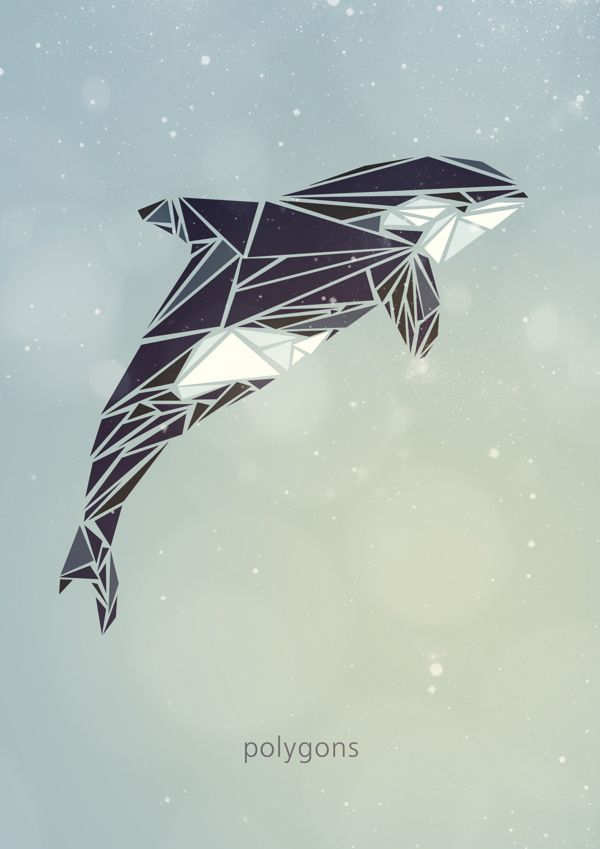 Polygon animals by emiliya lokta via behance geometric in 2019 pinterest - Geometrische wandbilder ...