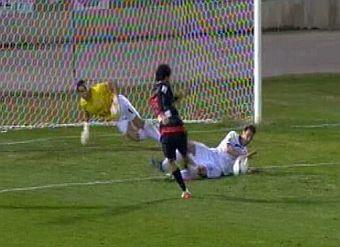Penalti bien pitado y expulsión correcta de Dani Torres en el Real Jaén-Atlético de Madrid