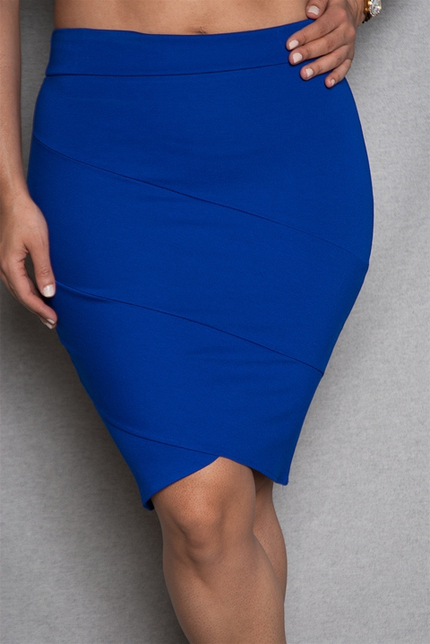 48da3251b65 Plus-Size High-Waist Tulip Hem Mini Skirt - Royal from 2B Clothing at Lucky  21  tulip hem - high-waist