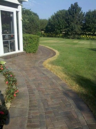 Unilock Walkway After Being Sealed With Wet Look Sealer By Paver