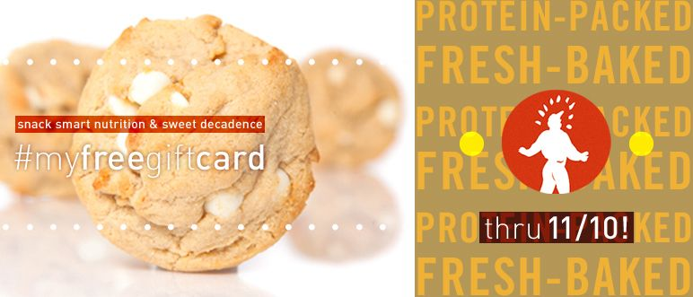 "Your chance to win a FREE @proteinbakery gift card ends 11/10! Simply 1. ""Follow"" us, and 2. re-pin our contest pin to as many of your boards as you want. 3. Mention us— @proteinbakery and use the tag #myfreegiftcard. Sweeten the holidays before they start! Good luck everyone!"