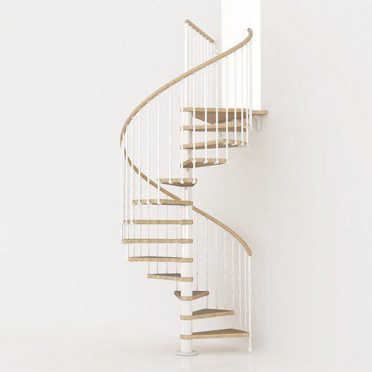 Escalier Colimacon Rond Ring Pixima Marches Bois Structure Metal Escalier Colimacon Bois Idees Escalier