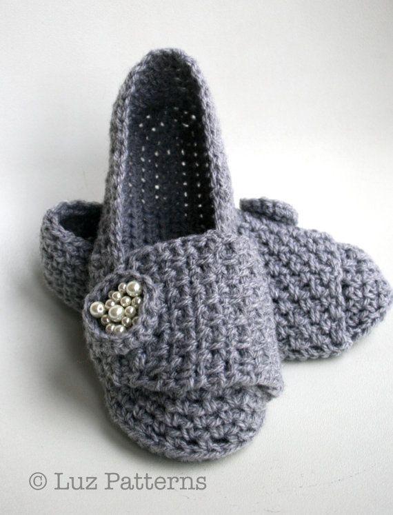 CROCHET PATTERN, crochet slipper pattern, shoe pattern, crochet ...