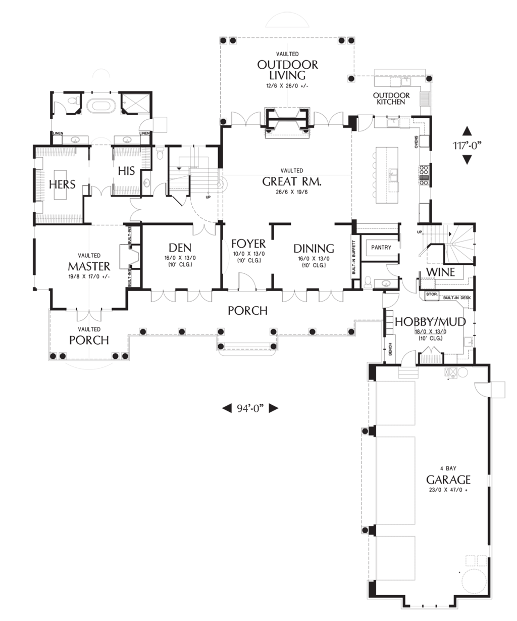 Colonial Style House Plan 4 Beds 5 Baths 4903 Sq Ft Plan 48 642 Colonial House Plans House Plans House Floor Plans