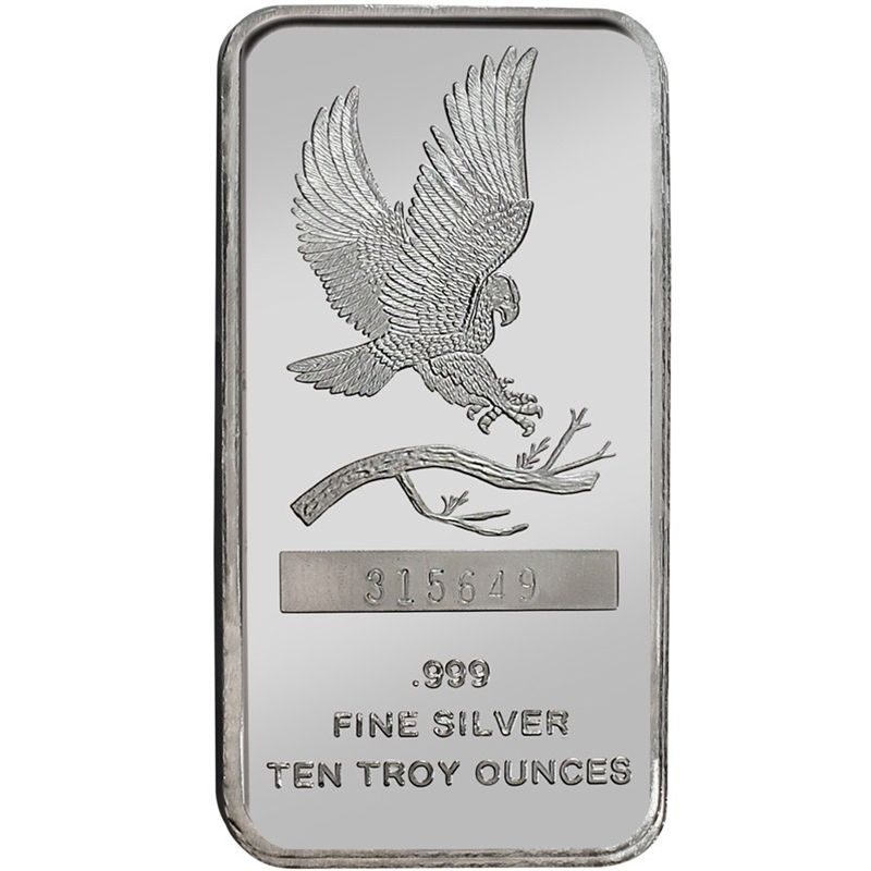 Eagle 10oz 999 Silver Bar Silver Bars Fine Silver Silver Bullion