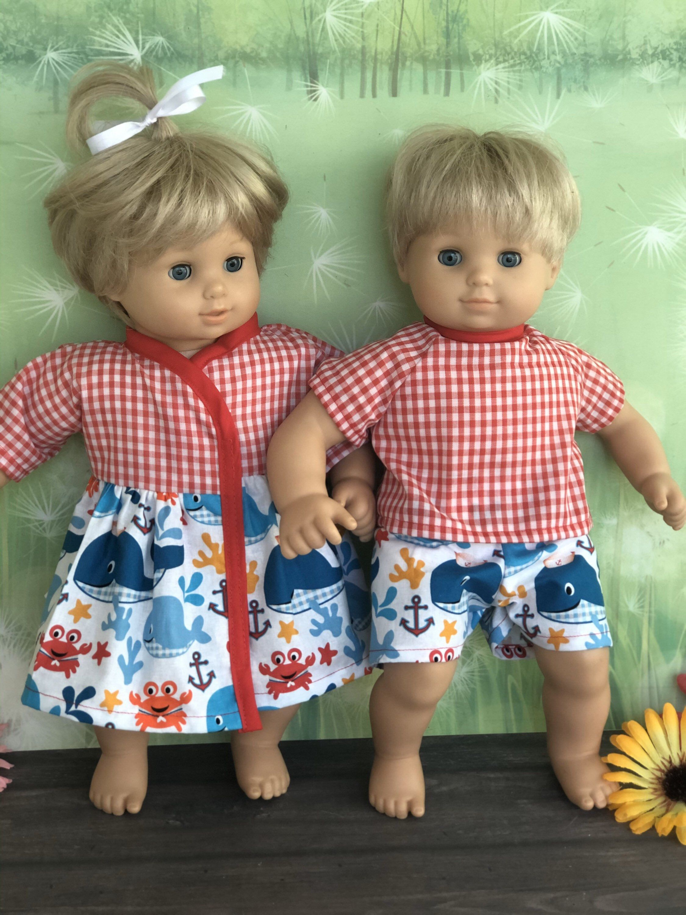 Matching Boy And Girl Doll Clothes 15 Twins Doll Clothes In 2020 Girl Doll Clothes Baby Doll Clothes Twin Dolls