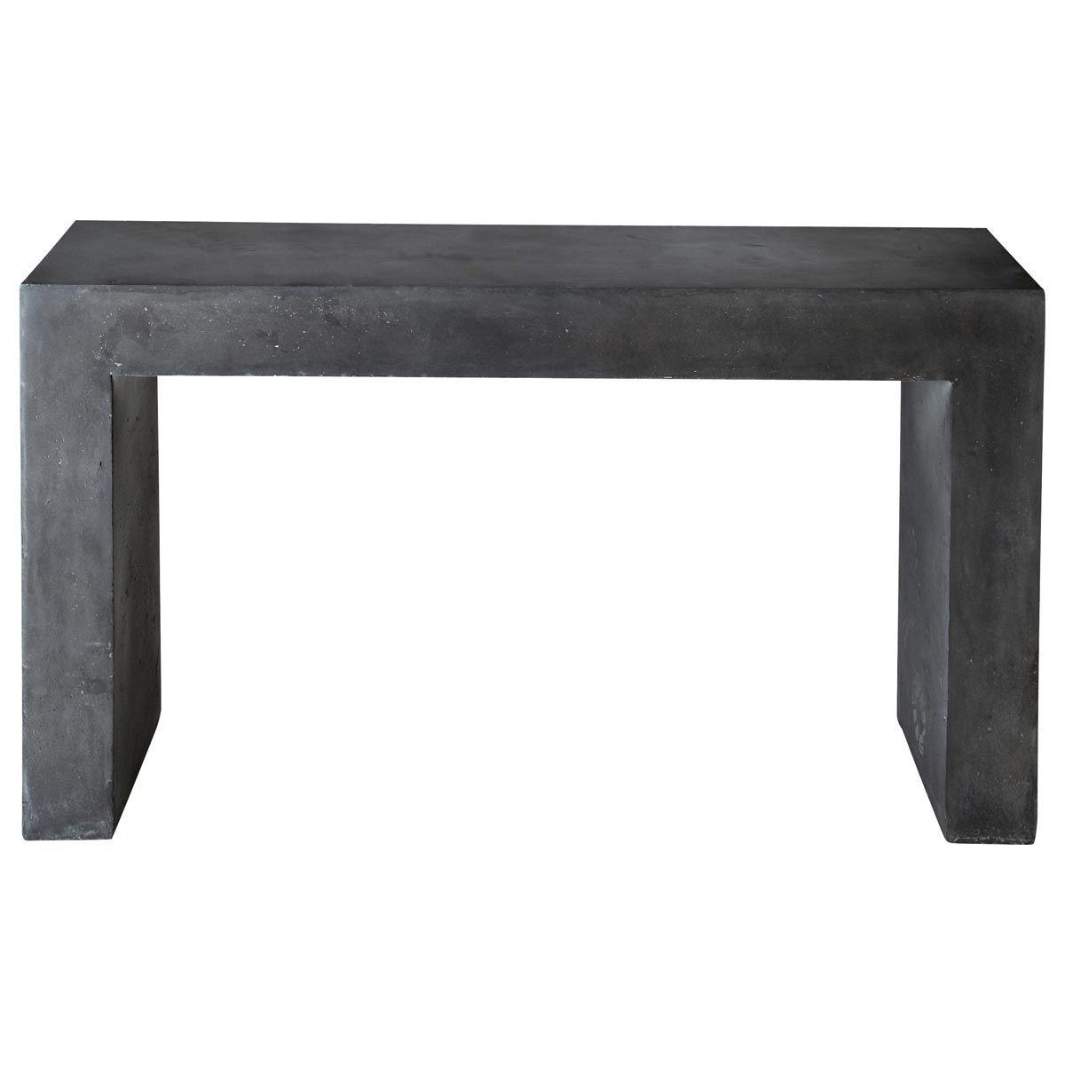 Table console effet béton en magnésie anthracite L 135 cm ...
