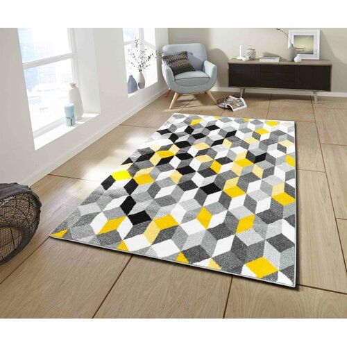 Fjorde Co Paignt Braided Yellow Grey White Rug In 2020 Teppich