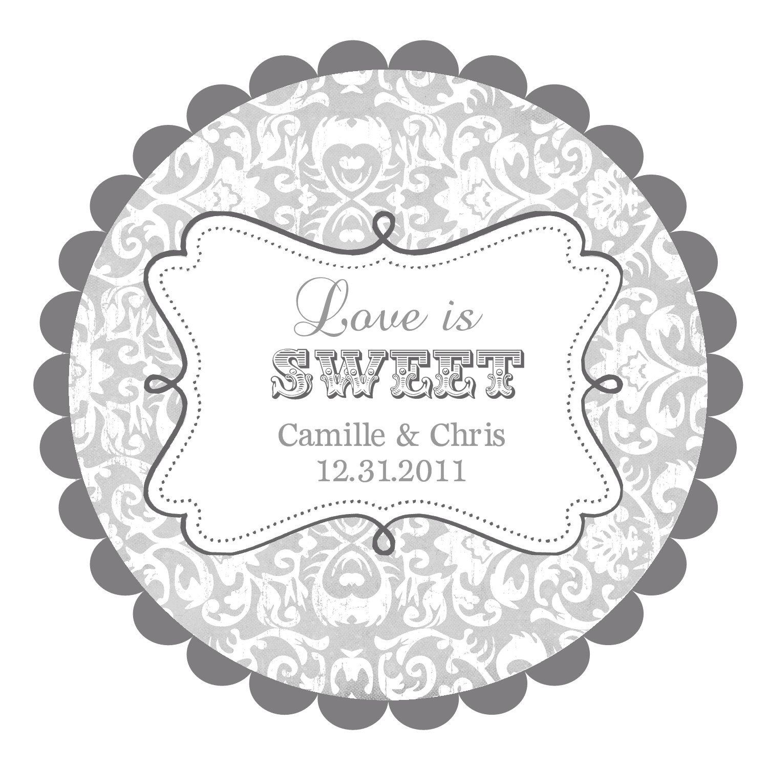 Love Is Sweet Wedding Labels Round Stickers For Favors Reserved