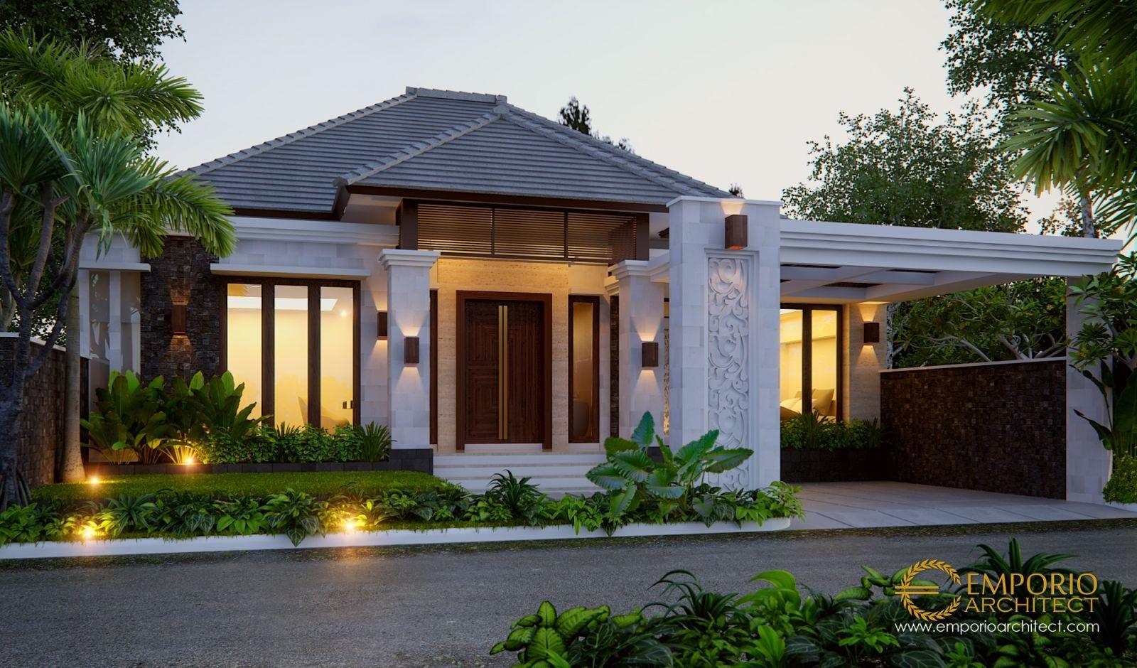Jasa Arsitek Padang Sumatera Barat Desain Rumah Villa Bali Tropis